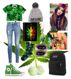 """Marijuana"" by jccook-jc ❤ liked on Polyvore featuring STELLA McCARTNEY, Converse, JanSport, Palm Beach Jewelry and Eos"