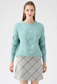 c539455facc Before the Dawn Cable Knit Sweater in Seafoam Cable Knit Sweaters