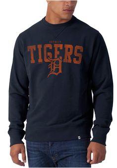 Detroit Tigers '47 Brand Crew Sweatshirt - Mens Navy Blue Striker Long Sleeve Crew Long Sleeve Sweatshirt http://www.rallyhouse.com/shop/detroit-tigers-47-brand-4803367?utm_source=pinterest&utm_medium=social&utm_campaign=Pinterest-DetroitTigers $64.99