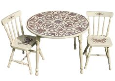 Floral Table and 2 Chair Set