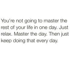 Master the day.