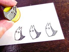 Chibi Totoro Inspired Stamps little rubber stamps halloween stamp