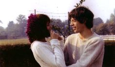 Chrissie Shrimpton & Mick Jagger at the Shrimpton family farm after announcing their engagement Mick Jagger Wife, Mick Jagger Girlfriend, Chrissie Shrimpton, Jean Shrimpton, Sympathy For The Devil, Moves Like Jagger, Marianne Faithfull, Stone World, Perfect Relationship