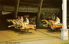 Euclid Beach Derby Racer:  A horse racing ride similar to a very fast carousel without the poles.  Just a memory.