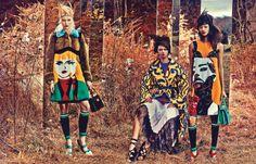 Malaika Firth, Marina Nery, Sasha Luss, Irene Hiemstra, Juliana Schurig by Craig McDean for W Magazine February 2014 8