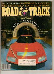 Road & Track Car Magazine August 1982 Aston Martin Lagonda Alfa Spider Ferrari