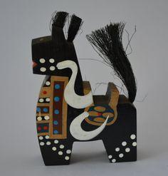 Black Hachinohe Yahata-koma horse doll, vintage Japanese, mingei folkcraft