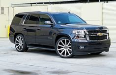 2015 Chevrolet Tahoe With Crown Suspension Lowering Kit