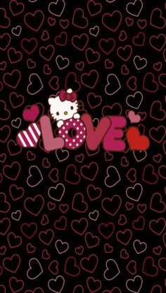 Ideas For Wallpaper Iphone Disney Pink Love Hello Kitty Hello Kitty Iphone Wallpaper, Wallpaper Iphone Love, Hello Kitty Backgrounds, Trendy Wallpaper, Cute Wallpapers, Valentine Wallpaper, Emo Wallpaper, Hello Kitty Clipart, Hello Kitty Themes