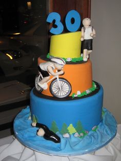 triathlon cake ideas