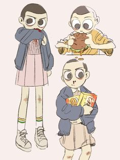 *uses cool telekinetic powers to steal some eggos* (Eleven from Stranger Things by P. Kim)