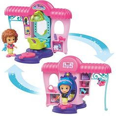 Sandy /& her Surfboard Playset and Figure with 2 Outfits /& Sound vTech Flipsies
