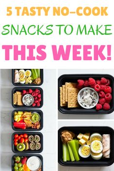No time for meal prep? At least you can be prepared with a few nutritious no-cook snacks to get you through hectic days!  https://www.beachbodyondemand.com/blog/simple-no-cook-snacks  vegetarian recipes, vegetarian recipes Healthy, vegetarian recipes Easy