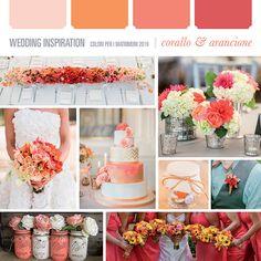 Matrimoni 2016: scelta del colore - Wedding Inspiration Blog    corallo e arancione - coral and orange