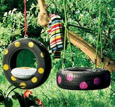 Spielgeräte im Garten selber bauen - Upcycling Ideen