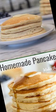 Simple ingredients and a few minutes time is all you need to make these perfect, homemade pancakes.#Pancake #Recipe #Homemade #Pancakes #Best Pancake Recipe No Eggs 23+ Best Ever Homemade Pancakes | Pancake Recipe No Eggs No Butter | 2020 Homemade Pancakes, Pancakes Easy, Easy Pancake Recipe No Milk, Recipe 30, 3 Ingredients, Easy Meals, Breakfast, Simple, Food