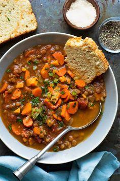 Mexican Food Recipes, Vegan Recipes, Dinner Recipes, Healthy Vegetarian Recipes, Vegetarian Stew, Vegan Stew, Vegan Soups, Vegetarian Dinners, Lunch Recipes