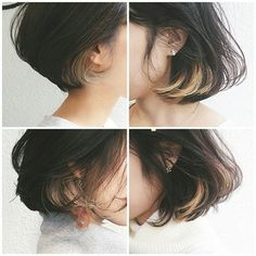 growing out hair Cut My Hair, Love Hair, Her Hair, Hair Cuts, Colored Highlights, Hair Highlights, Pretty Hairstyles, Bob Hairstyles, Pelo Midi