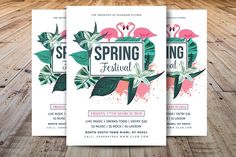 Spring Festival Flyer by Madhabi Studio on @Graphicsauthor