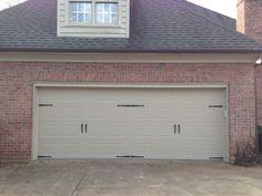Steel Short Panel Bead Board Carriage House Garage Door