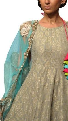Banarsi Grey Salwar Suit | Strandofsilk.com - Indian Designers by june