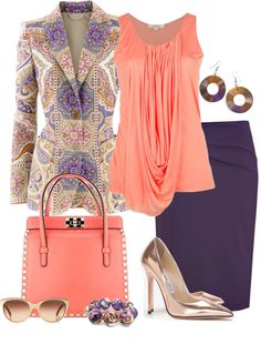"""""""Coral for Spring"""" by yasminasdream ❤ liked on Polyvore"""