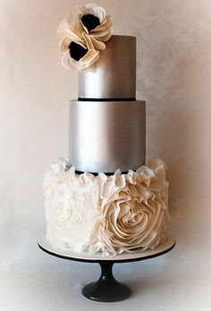 Metallic Tier Wedding Cakes