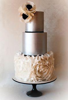 Metallic Tier Wedding Cakes