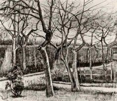 Vincent van Gogh: Vicarage Garden, The,  Nuenen: March, 1884 (Amsterdam, Van Gogh Museum)   F 1132, JH 463