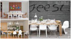 Salas de jantar com cadeiras diferentes #diningroom #chair #cadeiras