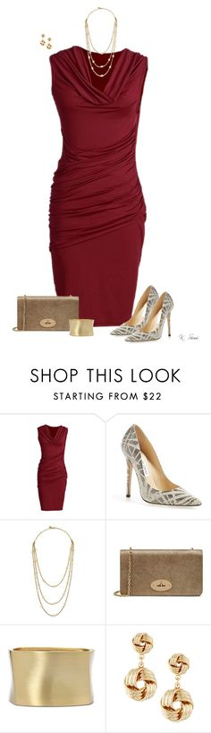 """""""This Dress!"""" by ksims-1 ❤ liked on Polyvore featuring Jimmy Choo, Tory Burch, Mulberry, Bold Elements and Fragments"""