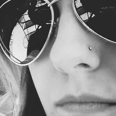 Small nose ring.