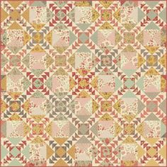Flying geese quilt- 3 sisters-moda fabrics