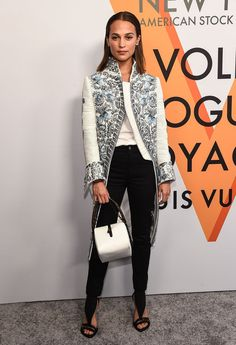 Victoria Beckham's New Look for Night? Black Jackets, Wide-Leg Pants, and a Hint of Elizabethan Style