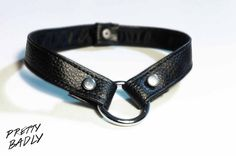 O'ring Leather Choker par PrettyBadly sur Etsy