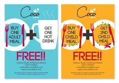 Coco Cafe flyer