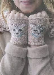 Image result for owl fingerless gloves knitting pattern free