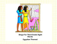 TeacherLingo.com $1.80 - Your students will enjoy this game and the graphics as a different way to practice reading these sight words.  This colorful Ancient Egyptian themed Bingo game can be printed on heavy cardstock and laminated to make a lasting reusable game. As an alternat