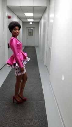 Ankara Peplum Dress and a peplum Jacket Short Ankara Dresses, African Print Dresses, African Dress, African Inspired Fashion, African Print Fashion, Africa Fashion, African Attire, African Wear, African Style