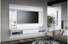 Painel para TV Lincoln Branco Gloss s/ LED 2.2 - Província