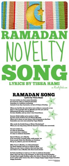 A Crafty Arab: Ramadan Novelty Song {Printable}. This Ramadan song is a novelty song written by Iranian comedian Tissa Hami. It's theme is geared to Muslim children being alienated around December. Ramadan Song, Ramadan Crafts, Ramadan Decorations, Geography For Kids, Muslim Culture, Jerry Lewis, Study History, Adam Sandler