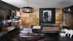 GORGEOUS! Bathroom, Attractive Colorful Bathroom Designs by Delpha: Wonderful Black Grey Brown Bathroom Design