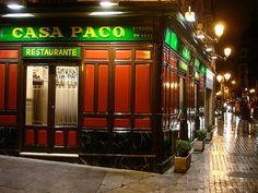 "Restaurante ""Casa Paco"" Madrid. Recomended by Tony. Fundada en 1933. Best meal in Spain."