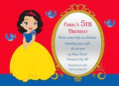 Clásico Snow Princess invitación invitación por AnnounceItFavors