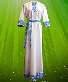 Woman medieval dress Svarga Embroidery dress Natural linen