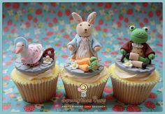 Beatrix Potter cupcakes by Scrumptious Buns - www.scrumptiousbuns.co.uk