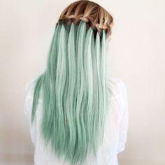 pastel green hair :)