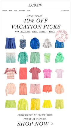 J. Crew Email - love the use of color