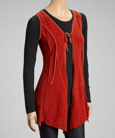 Another great find on #zulily! Rust Handkerchief Vest by Zoé Collection #zulilyfinds