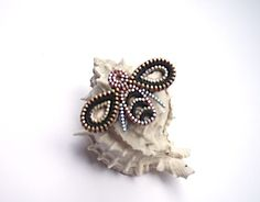 Honeybee Brooch  Zipper Jewelry by KristinaRyanDesigns on Etsy, $28.00